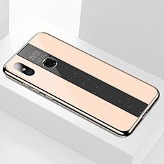 Xiaomi Mi A2用ハイブリットバンパーケース プラスチック 鏡面 カバー M02 Xiaomi ゴールド