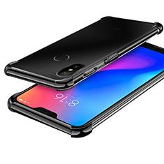 Xiaomi Mi A2 Lite用極薄ソフトケース シリコンケース 耐衝撃 全面保護 クリア透明 H02 Xiaomi ブラック
