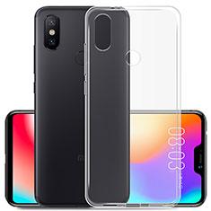 Xiaomi Mi A2 Lite用極薄ソフトケース シリコンケース 耐衝撃 全面保護 クリア透明 カバー Xiaomi クリア