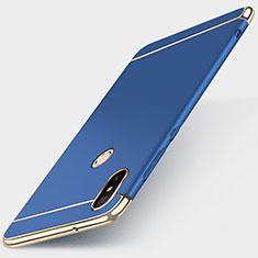 Xiaomi Mi A2 Lite用ケース 高級感 手触り良い メタル兼プラスチック バンパー M01 Xiaomi ネイビー