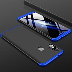 Xiaomi Mi A2 Lite用ハードケース プラスチック 質感もマット 前面と背面 360度 フルカバー Xiaomi ネイビー・ブラック