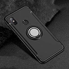 Xiaomi Mi A2 Lite用ハイブリットバンパーケース プラスチック アンド指輪 マグネット式 Xiaomi ブラック