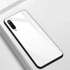 Xiaomi Mi A3用ハイブリットバンパーケース プラスチック 鏡面 カバー Xiaomi ホワイト