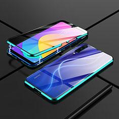 Xiaomi Mi A3用ケース 高級感 手触り良い アルミメタル 製の金属製 360度 フルカバーバンパー 鏡面 カバー M01 Xiaomi グリーン