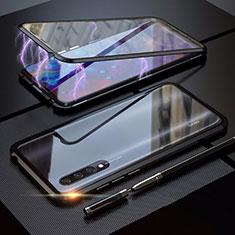 Xiaomi Mi A3用ケース 高級感 手触り良い アルミメタル 製の金属製 360度 フルカバーバンパー 鏡面 カバー M03 Xiaomi ブラック