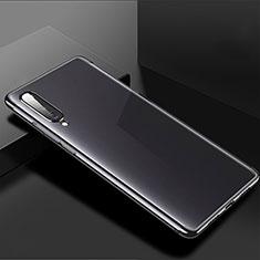 Xiaomi Mi A3用極薄ソフトケース シリコンケース 耐衝撃 全面保護 クリア透明 H02 Xiaomi ブラック