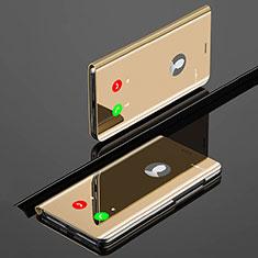 Xiaomi Mi A3用手帳型 レザーケース スタンド 鏡面 カバー Xiaomi ゴールド