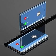 Xiaomi Mi A3用手帳型 レザーケース スタンド 鏡面 カバー Xiaomi ネイビー