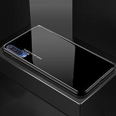 Xiaomi Mi A3 Lite用ハイブリットバンパーケース プラスチック 鏡面 虹 グラデーション 勾配色 カバー Xiaomi ブラック