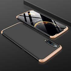 Xiaomi Mi A3 Lite用ハードケース プラスチック 質感もマット 前面と背面 360度 フルカバー M01 Xiaomi ゴールド・ブラック