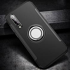 Xiaomi Mi A3 Lite用ハイブリットバンパーケース プラスチック アンド指輪 マグネット式 Xiaomi ブラック