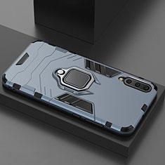 Xiaomi Mi A3 Lite用ハイブリットバンパーケース スタンド プラスチック 兼シリコーン カバー マグネット式 Xiaomi ネイビー
