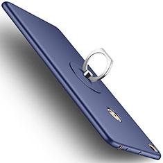 Xiaomi Mi Max 2用ハードケース プラスチック 質感もマット アンド指輪 Xiaomi ネイビー