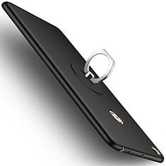 Xiaomi Mi Max 2用ハードケース プラスチック 質感もマット アンド指輪 Xiaomi ブラック