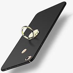 Xiaomi Mi Max 2用ハードケース プラスチック 質感もマット アンド指輪 A02 Xiaomi ブラック