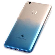 Xiaomi Mi Max 2用極薄ソフトケース グラデーション 勾配色 クリア透明 Xiaomi ネイビー