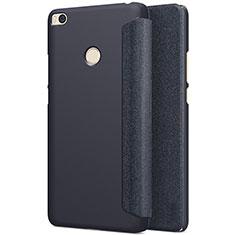 Xiaomi Mi Max 2用手帳型 レザーケース スタンド Xiaomi ブラック
