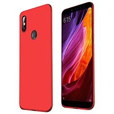 Xiaomi Mi Max 3用極薄ソフトケース シリコンケース 耐衝撃 全面保護 S01 Xiaomi レッド