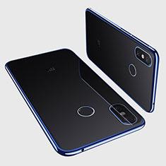 Xiaomi Mi Max 3用極薄ソフトケース シリコンケース 耐衝撃 全面保護 クリア透明 H01 Xiaomi ネイビー