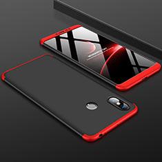 Xiaomi Mi Max 3用ハードケース プラスチック 質感もマット 前面と背面 360度 フルカバー Xiaomi レッド・ブラック