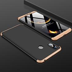 Xiaomi Mi Max 3用ハードケース プラスチック 質感もマット 前面と背面 360度 フルカバー Xiaomi ゴールド・ブラック