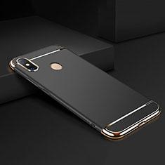 Xiaomi Mi Max 3用ケース 高級感 手触り良い メタル兼プラスチック バンパー M01 Xiaomi ブラック