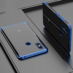 Xiaomi Mi Max 3用極薄ソフトケース シリコンケース 耐衝撃 全面保護 クリア透明 H02 Xiaomi ネイビー