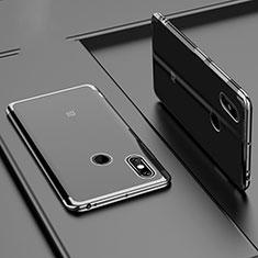 Xiaomi Mi Max 3用極薄ソフトケース シリコンケース 耐衝撃 全面保護 クリア透明 H02 Xiaomi ブラック