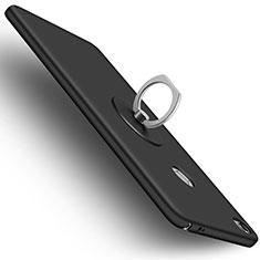 Xiaomi Mi Max用ハードケース プラスチック 質感もマット アンド指輪 Xiaomi ブラック