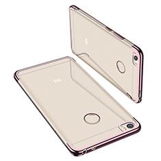 Xiaomi Mi Max用極薄ソフトケース シリコンケース 耐衝撃 全面保護 クリア透明 H02 Xiaomi ローズゴールド