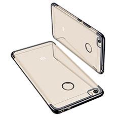 Xiaomi Mi Max用極薄ソフトケース シリコンケース 耐衝撃 全面保護 クリア透明 H02 Xiaomi ブラック