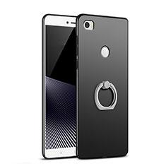 Xiaomi Mi Max用ハードケース プラスチック 質感もマット アンド指輪 A02 Xiaomi ブラック