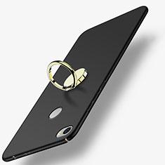 Xiaomi Mi Max用ハードケース プラスチック 質感もマット アンド指輪 A03 Xiaomi ブラック