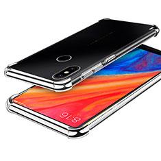 Xiaomi Mi Mix 2S用極薄ソフトケース シリコンケース 耐衝撃 全面保護 クリア透明 H01 Xiaomi シルバー