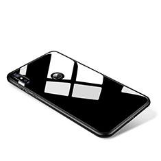 Xiaomi Mi Mix 2S用ハイブリットバンパーケース プラスチック 鏡面 カバー Xiaomi ブラック