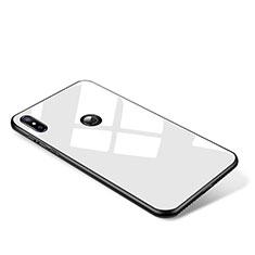 Xiaomi Mi Mix 2S用ハイブリットバンパーケース プラスチック 鏡面 カバー Xiaomi ホワイト
