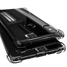 Xiaomi Mi Mix 2S用極薄ソフトケース シリコンケース 耐衝撃 全面保護 クリア透明 H02 Xiaomi ブラック