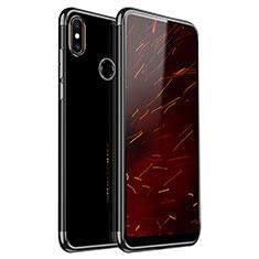 Xiaomi Mi Mix 2S用極薄ソフトケース シリコンケース 耐衝撃 全面保護 クリア透明 H03 Xiaomi ブラック