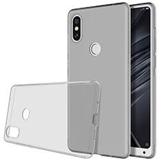 Xiaomi Mi Mix 2S用極薄ソフトケース シリコンケース 耐衝撃 全面保護 クリア透明 カバー Xiaomi グレー