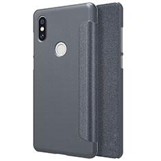 Xiaomi Mi Mix 2S用手帳型 レザーケース スタンド Xiaomi ブラック