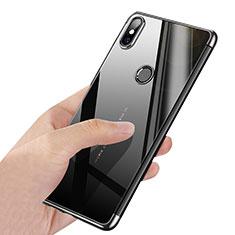Xiaomi Mi Mix 2S用極薄ソフトケース シリコンケース 耐衝撃 全面保護 クリア透明 T03 Xiaomi シルバー
