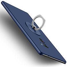 Xiaomi Mi Mix用ハードケース プラスチック 質感もマット アンド指輪 Xiaomi ネイビー