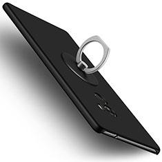 Xiaomi Mi Mix用ハードケース プラスチック 質感もマット アンド指輪 Xiaomi ブラック
