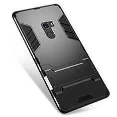 Xiaomi Mi Mix用ハイブリットバンパーケース スタンド プラスチック 兼シリコーン カバー Xiaomi ブラック
