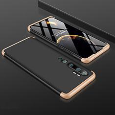 Xiaomi Mi Note 10用ハードケース プラスチック 質感もマット 前面と背面 360度 フルカバー R01 Xiaomi ゴールド・ブラック