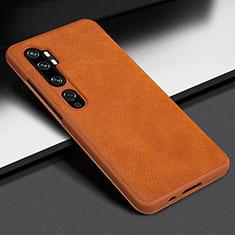 Xiaomi Mi Note 10用ケース 高級感 手触り良いレザー柄 Z01 Xiaomi オレンジ