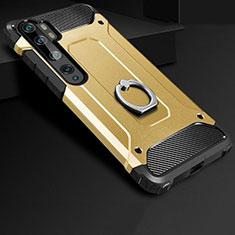 Xiaomi Mi Note 10用ハイブリットバンパーケース プラスチック アンド指輪 兼シリコーン カバー H01 Xiaomi ゴールド