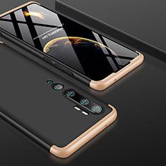Xiaomi Mi Note 10用ハードケース プラスチック 質感もマット 前面と背面 360度 フルカバー P01 Xiaomi ゴールド・ブラック