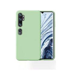Xiaomi Mi Note 10用360度 フルカバー極薄ソフトケース シリコンケース 耐衝撃 全面保護 バンパー Xiaomi グリーン