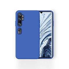 Xiaomi Mi Note 10用360度 フルカバー極薄ソフトケース シリコンケース 耐衝撃 全面保護 バンパー Xiaomi ネイビー